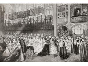The Royal Wedding between Albert Edward Prince of Wales future King Edward VII and Alexandra of Denmark at St Georges Chapel Windsor Enlgand March 10 1863 From Edward VII His Life and Times published
