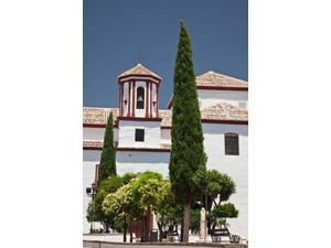 Spain, Andalusia, Malaga Province, Ronda Church of Santa Cecilia Poster Print by Julie Eggers (18 x 24)