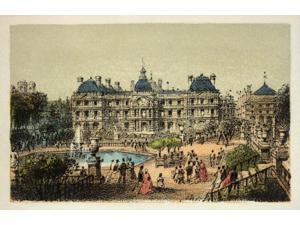 Gravure / Paris En 1874 : Les Jardins Du Luxembourg / Coll Poster Print (24 x 18)
