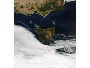 Satellite view of Tasmania, an island state of Australia Poster Print (13 x 14)