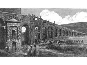 Building Roman Aqueduct Poster Print by Science Source (24 x 18)