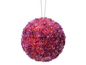 "2-Finish Purple Shatterproof Christmas Ball Ornament 3.5"" (90mm)"