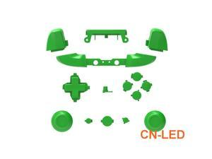 WPS Matte Green ABXY Dpad Triggers Full Buttons Set Mod Kits for Newest Xbox One Slim/Xbox one S Controller with Screwdriver (Torx T6 T8) Set  for 1708 version