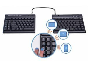 """Kinesis Freestyle2 Blue Multichannel Bluetooth Keyboard for Mac with 20"""" seperation"""