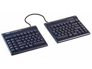 """Kinesis Freestyle2 Blue Multichannel Bluetooth Keyboard for PC with 20"""" seperation"""