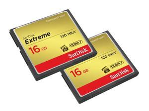 SanDisk 16GB Extreme Compact Flash Card 2 Pack (120MB/s)