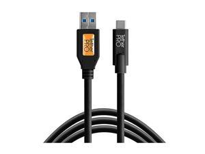 Tether Tools TetherPro USB to USB-C Cable, 15', Black #CUC3215-BLK