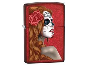 Zippo Day of The Dead Candy Apple Red Pocket Lighter