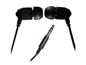 Far End Gear Short Buds - Short Cord Stereo Earbuds - Black