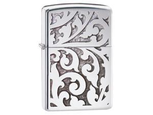 Zippo High Polished Chrome Filigree Pocket Lighter