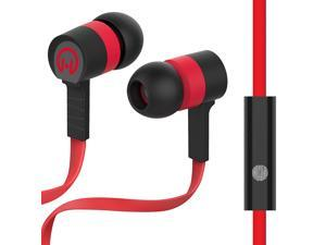 HyperGear Low Ryder 3.5mm Earphones with Microphone - Red/Black