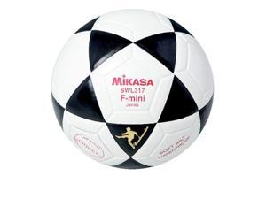 Mini Soccer Ball with Triangle Pattern by Mikasa Sports - Indoor, Black/White
