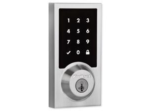 Kwikset 99160-016 SmartCode 916 Z-Wave Plus Contemporary Style Touchpad Deadbolt with Home Connect, Satin Nickel
