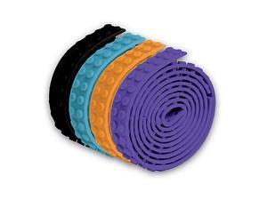 Build Bonanza Building Block Tape (Orange/Black/Light Blue/Purple)