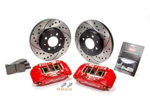 Brake Kit Front Honda/Acura Red Drilled