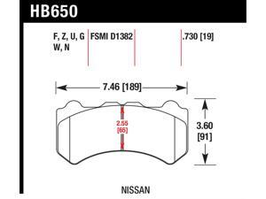Hawk Performance HB650G.730 Disc Brake Pad