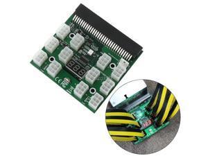 New PCI-E 6Pin Breakout Board 1200W/750W 12V For (1200W) GPU Mining Power Supply Z07 Drop ship