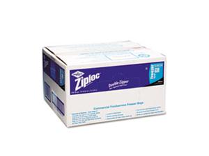 Ziploc Commercial Resealable Freezer Bag Zipper 2gal 13 x 15 1/2 Clear 100