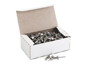 """Aluminum Head Push Pins, Aluminum, Silver, 5/8"""", 100/Box CPAL5"""