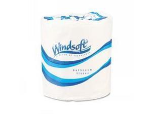 WINDSOFT Single Roll Bath One-Ply Bath Tissue, 1000 Sheets/Roll, 96 Rolls/Carton