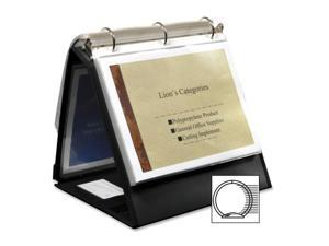 "Lion Office Products Ring Binder Easel 1-1/2"" Cap Horizontal 11""x8-1/2"" Black"