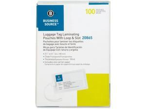 """Laminating Pouch Tags w/Loop 10Mil 2 -1/4""""x4-1/4"""" 100/BX CL"""