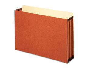 3 1/2 Inch Expansion File Pocket, Straight, Legal, Redrope, 10/Box