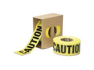 """9905016134244 Caution Barricade Tape, 2 Mil Thick, 3"""" W X 1000 Ft, Rol"""