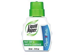 Liquid Paper Fast Dry Correction Fluid 22 ml Bottle White 1/Dozen 5640115
