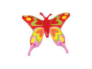 "27"" Giant Red Pink Inflatable Transparent Butterfly Insect Bug Decoration"
