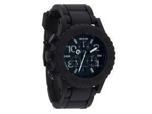 Nixon Rubber Men's '42-20 Chrono' Watch w/ Black Dial