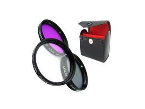 Zeikos 55 mm Multi Coated Glass Filter Kit