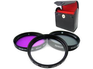 Zeikos 82mm Multi Coated Glass Filter Kit