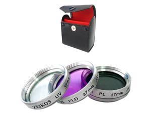 Zeikos 37mm Multi-coated Glass Filter Kit