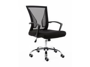Modern Home Zuna Mid-Back Office Chair - Black/Black