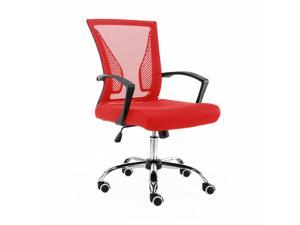 Modern Home Zuna Mid-Back Office Chair - Black/Red