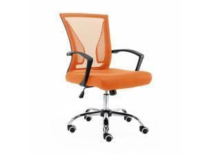 Modern Home Zuna Mid-Back Office Chair - Black/Orange