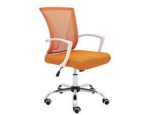 Modern Home Zuna Mid-Back Office Chair - White/Orange