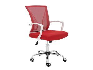 Modern Home Zuna Mid-Back Office Chair - White/Red