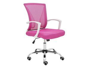 Modern Home Zuna Mid-Back Office Chair - White/Pink