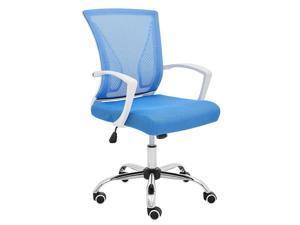 Modern Home Zuna Mid-Back Office Chair - White/Blue
