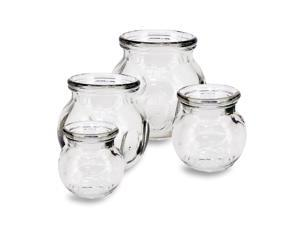 Royal Massage 4pc Fire Glass Cupping Jar Set