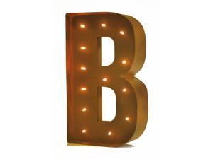 "Rustic Vintage 11"" Decorative LED Light Glow Letters - Letter B"