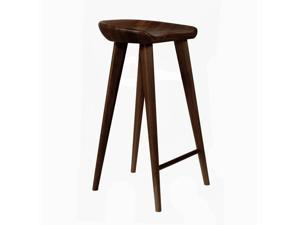 """Tractor Contemporary Carved Wood Barstool - 30"""" Bar Chair (Espresso)"""