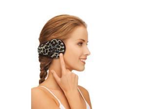 Bluetooth Wireless Headphone Fleece Earmuffs - Leopard