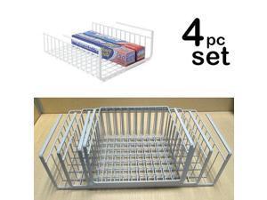 Modern Home Set of 4 Cabinet Wire Hanging Basket Shelves