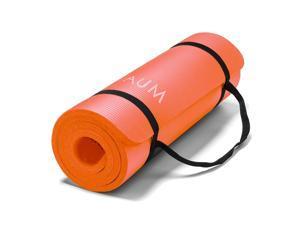 "AUM High Density HD Foam Tech Yoga Exercise Mat - 72"" x 24"" x 1/2"" - Orange"
