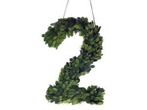 """Modern Home 12"""" Real Preserved Boxwood Monogram Wreath Letters - 2"""