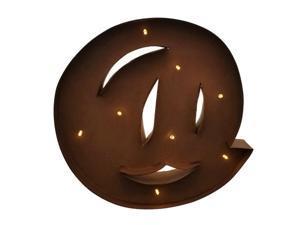 "Rustic Vintage 11"" Decorative LED Light Glow Letters - @ Symbol"
