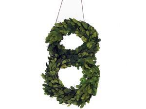 """Modern Home 12"""" Real Preserved Boxwood Monogram Wreath Letters - 8"""